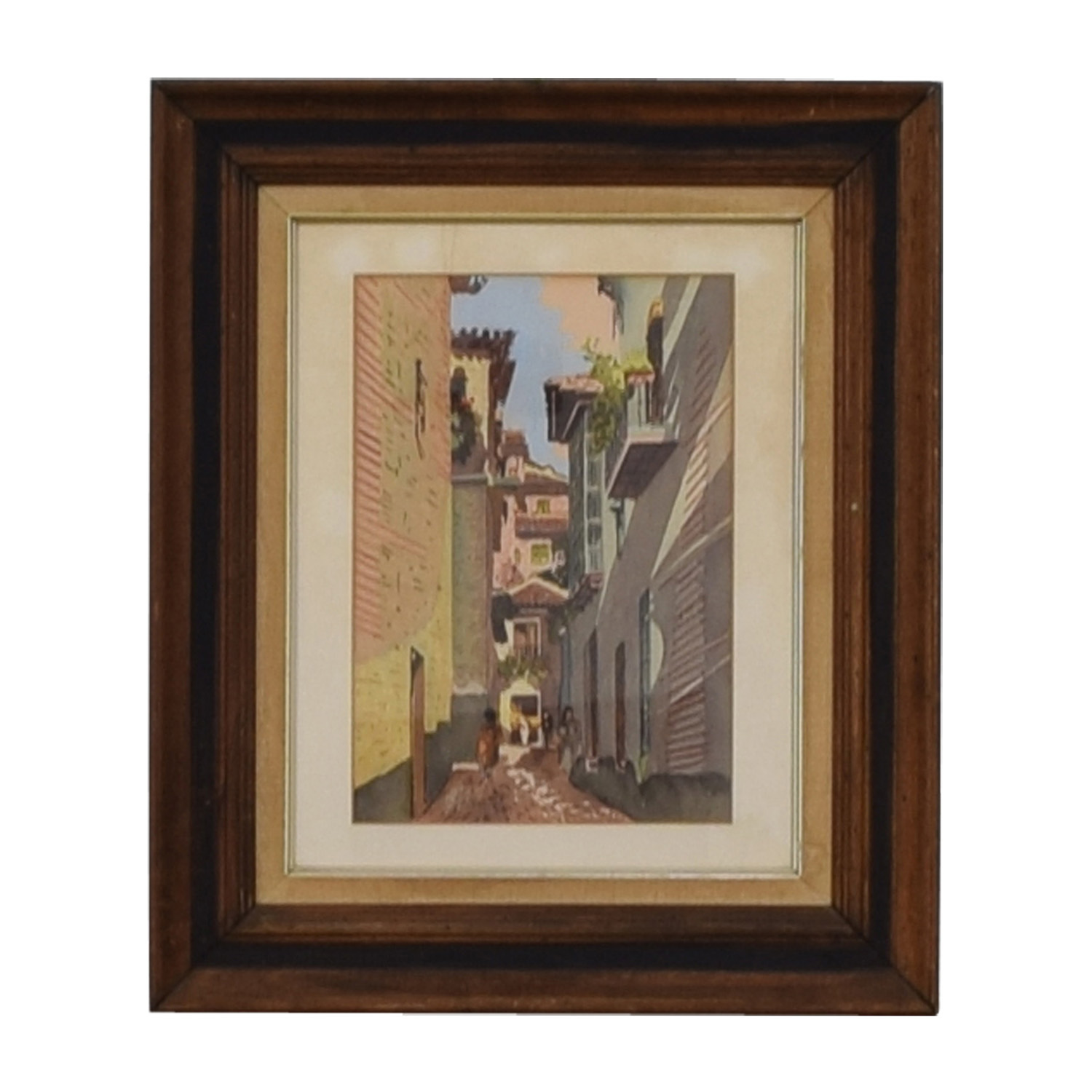 shop Scenic Village Walkway Framed Art