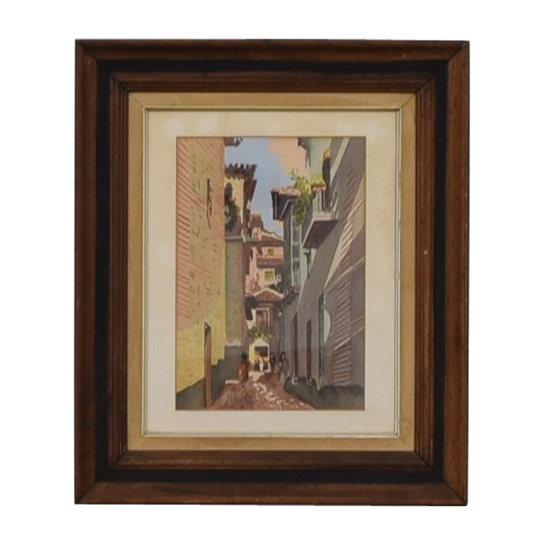 Scenic Village Walkway Framed Art coupon