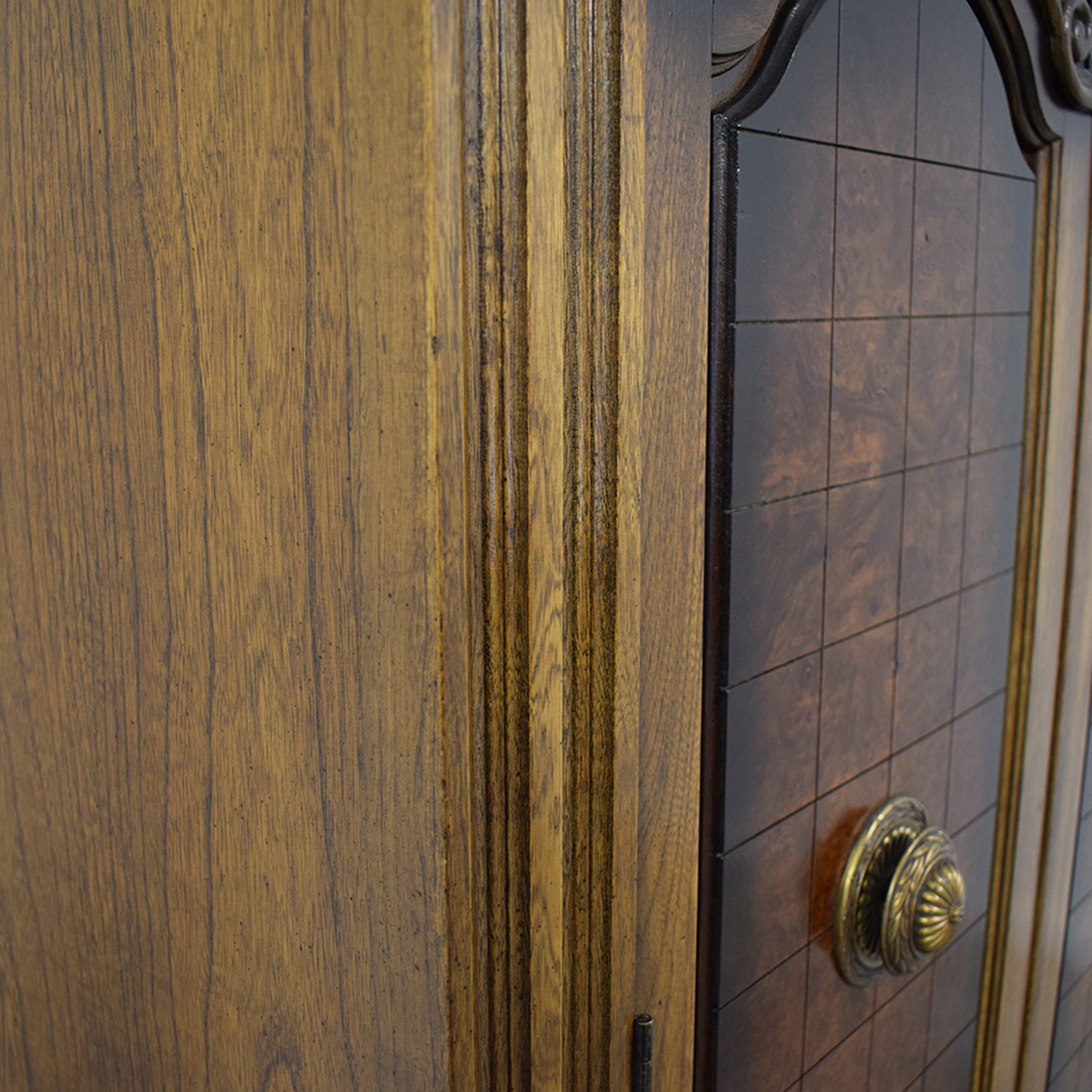 Seven-Drawer Wood Armoire for sale