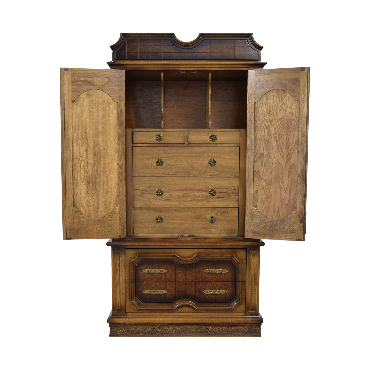 Seven-Drawer Wood Armoire coupon