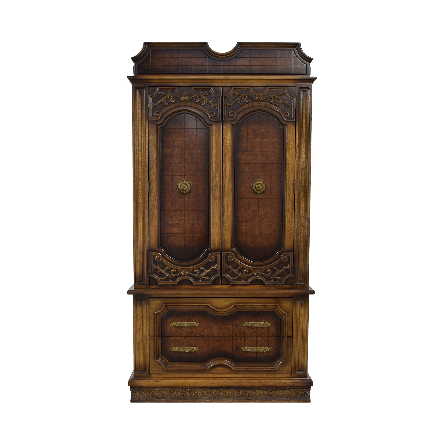Seven-Drawer Wood Armoire on sale