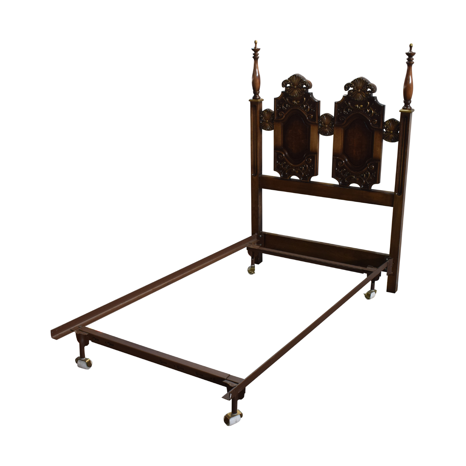 buy Carved Wood Twin Bed Frame