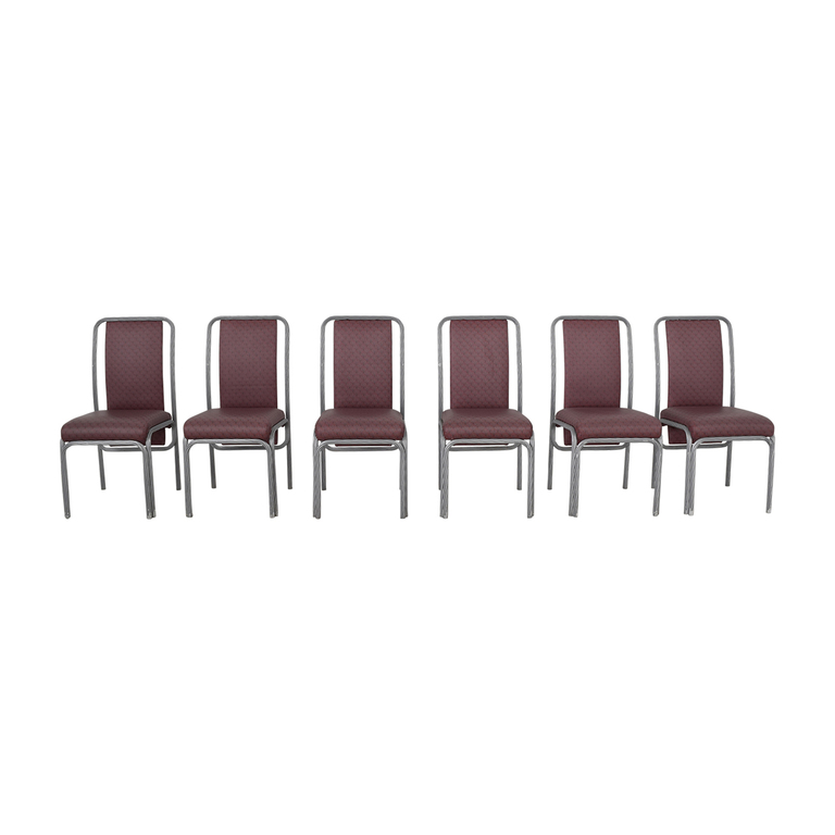 Precision Furniture Precision Furniture Purple Dinette Chairs dimensions