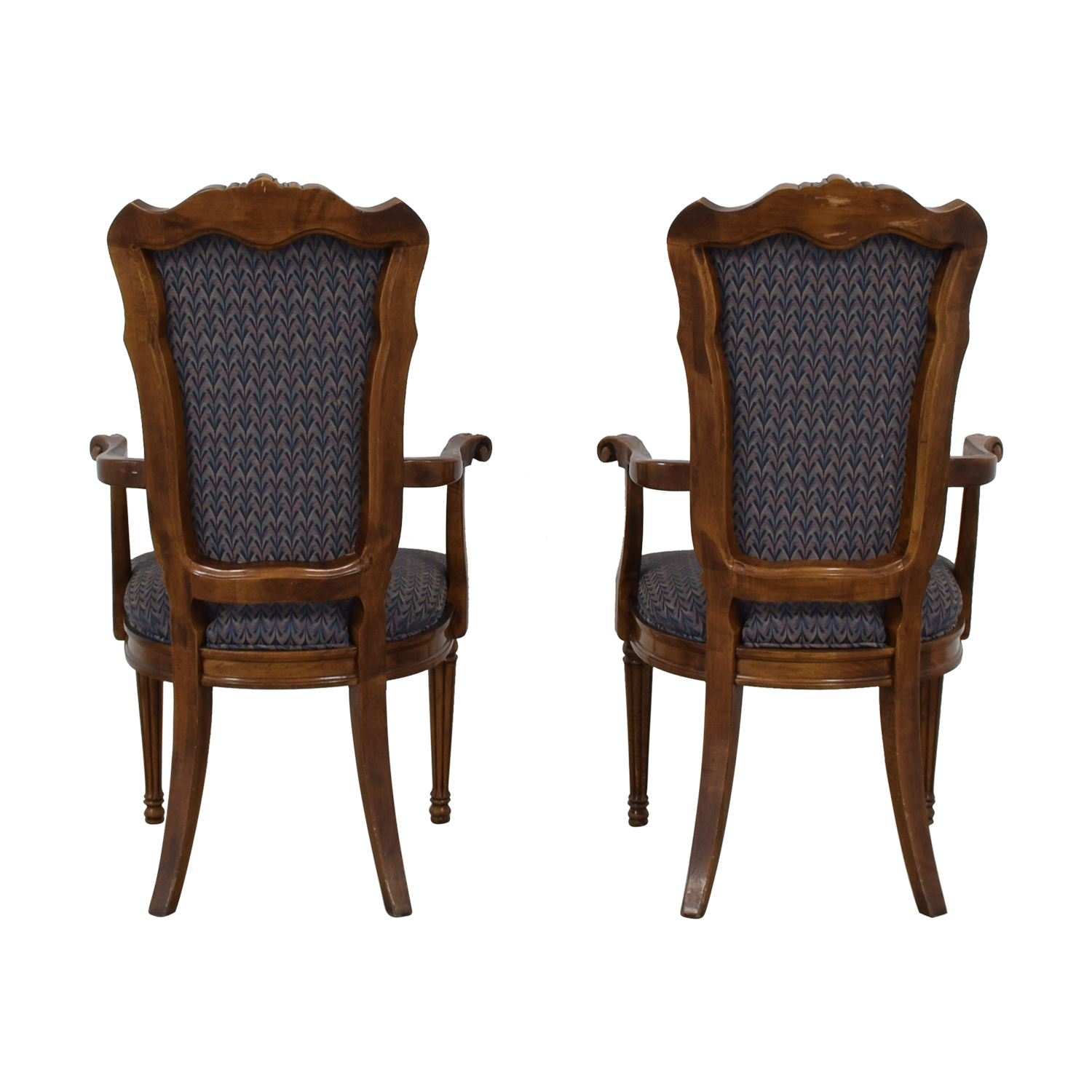 Multi-Colored Navy Armchairs dimensions