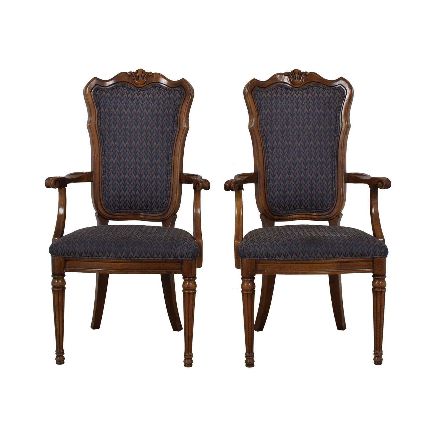 Multi-Colored Navy Armchairs nyc