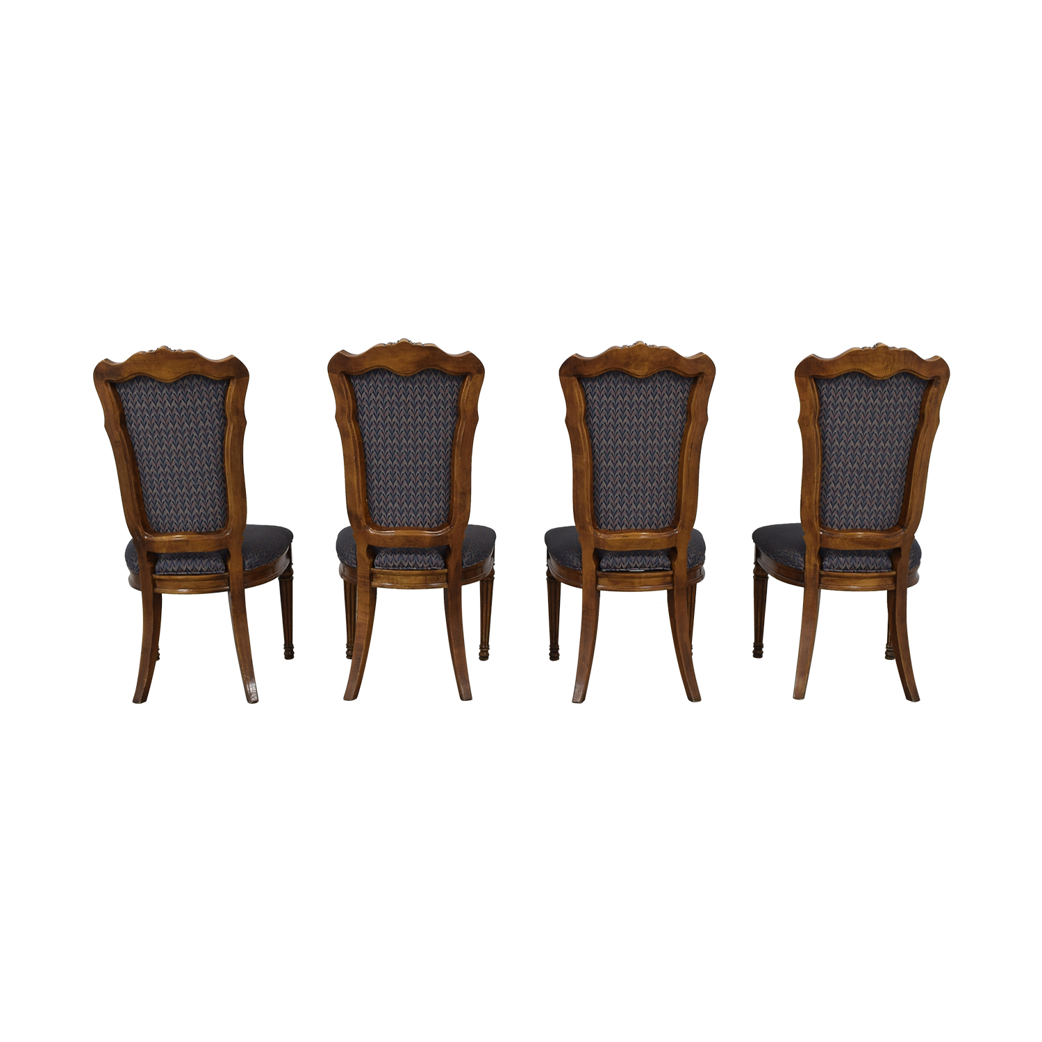 Multi-Colored Navy Dining Chairs for sale