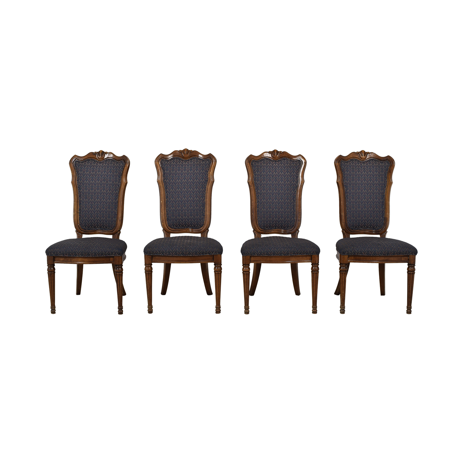 Multi-Colored Navy Dining Chairs Multi colored