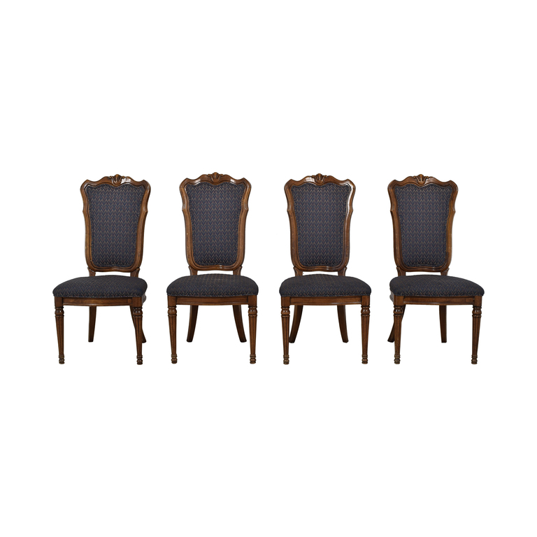 Multi-Colored Navy Dining Chairs nj
