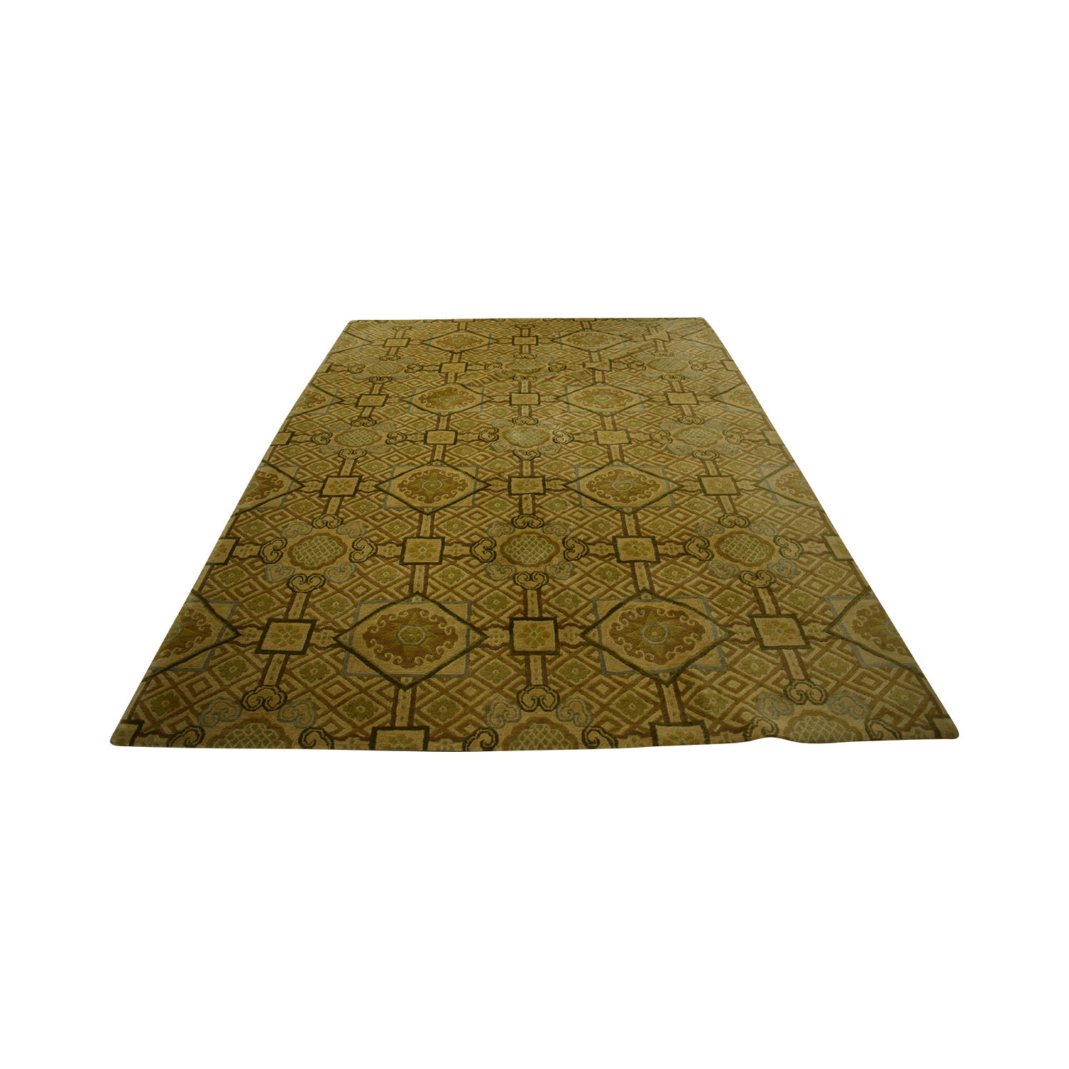 Noreen Seabrook Market Noreen Seabrook Market Bronze Multi-Colored Rug for sale