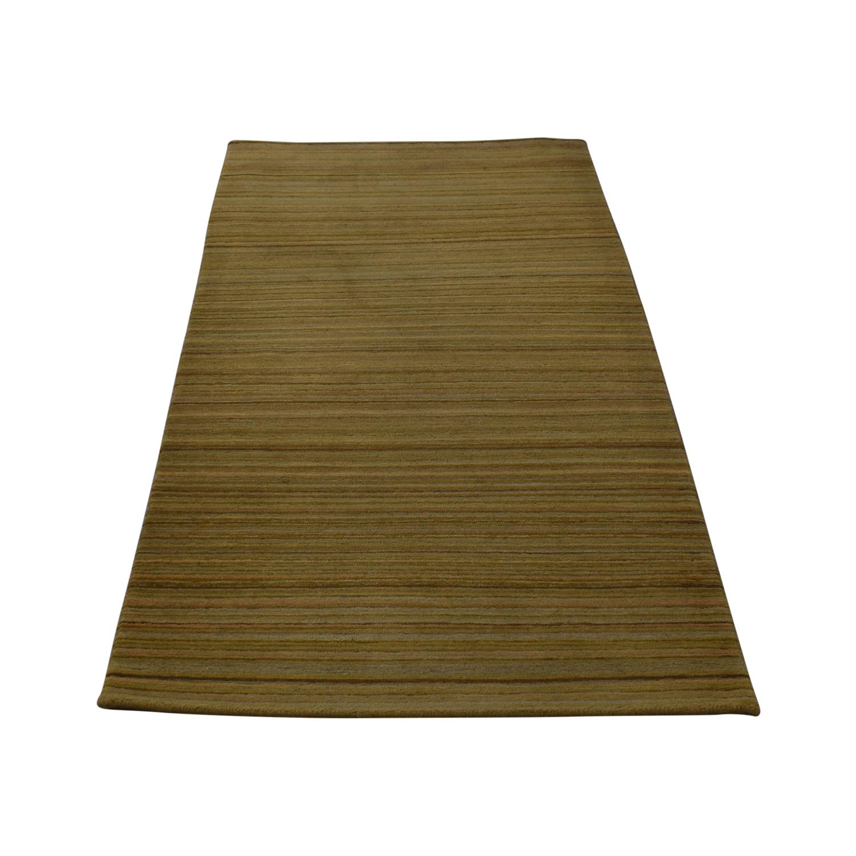 61 Off Abc Carpet Home Mustard Yellow Striped Rug Decor