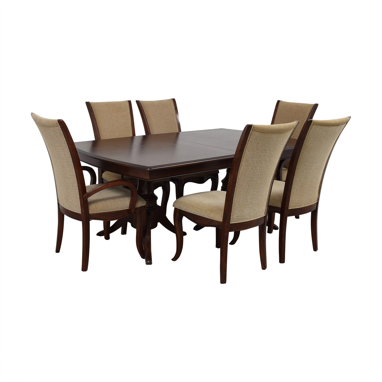 Raymour & Flanigan Raymour & Flanigan Extendable Dining Set with Padded Protector dimensions