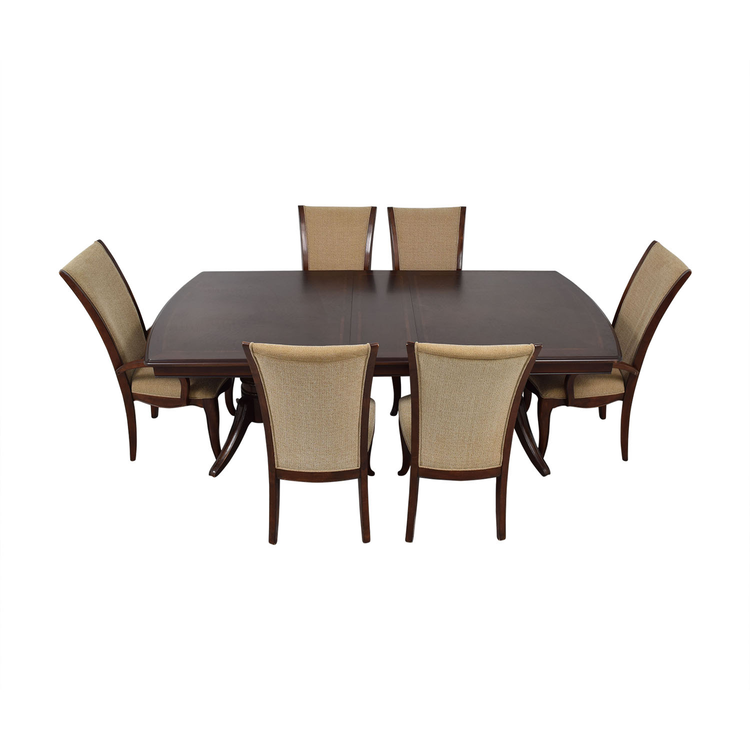 Raymour & Flanigan Raymour & Flanigan Extendable Dining Set with Padded Protector discount