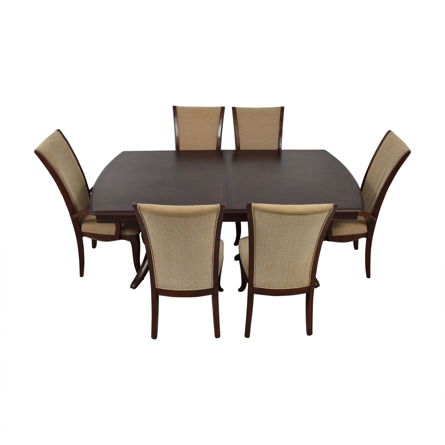 Raymour & Flanigan Raymour & Flanigan Extendable Dining Set with Padded Protector price