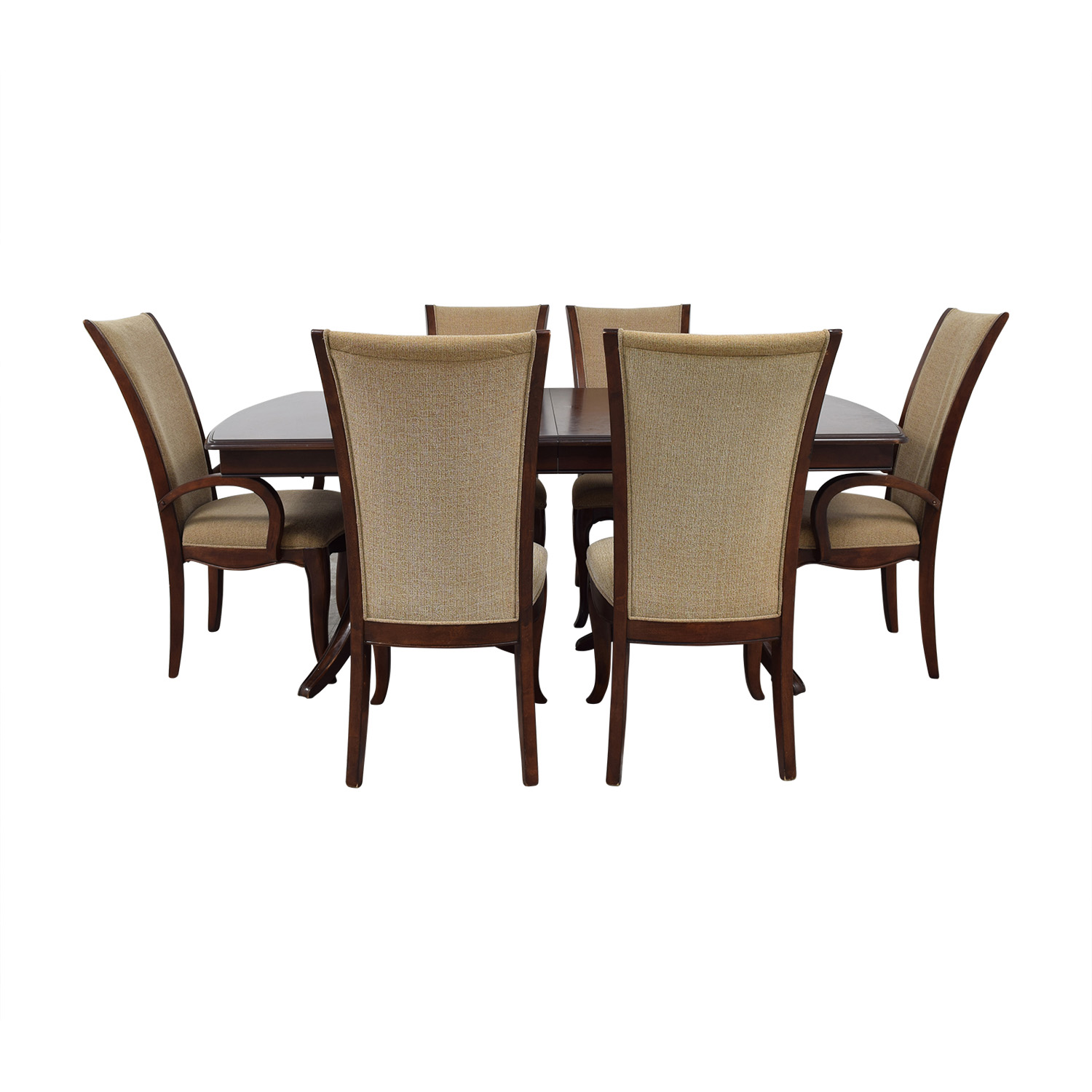 Raymour & Flanigan Extendable Dining Set with Padded Protector / Tables
