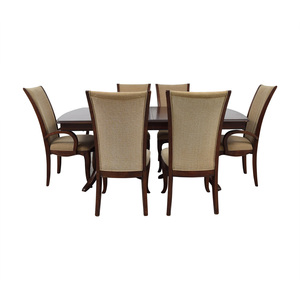 Raymour & Flanigan Raymour & Flanigan Extendable Dining Set with Padded Protector for sale