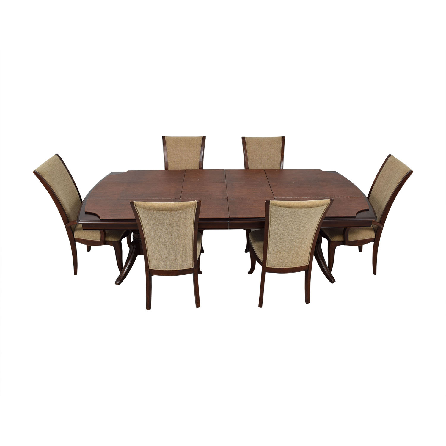 buy Raymour & Flanigan Raymour & Flanigan Extendable Dining Set with Padded Protector online