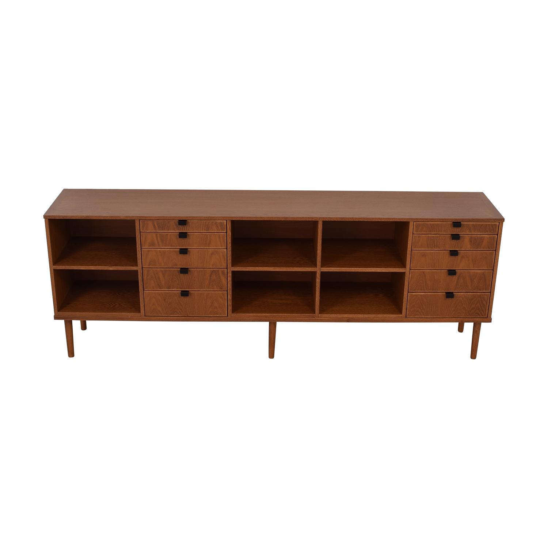 Custom Wood Ten-Drawer Credenza or Dresser Storage