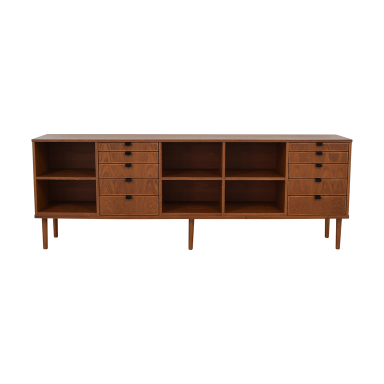 Custom Wood Ten-Drawer Credenza or Dresser / Storage