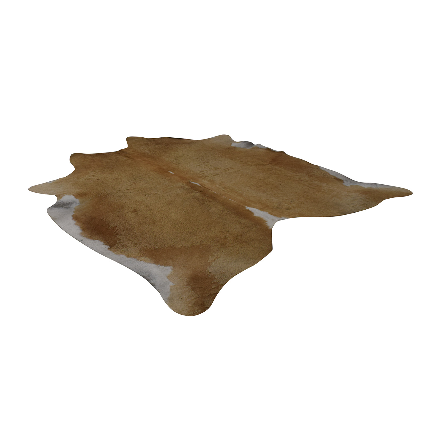Natural Cowhide Beige and White Rug / Rugs