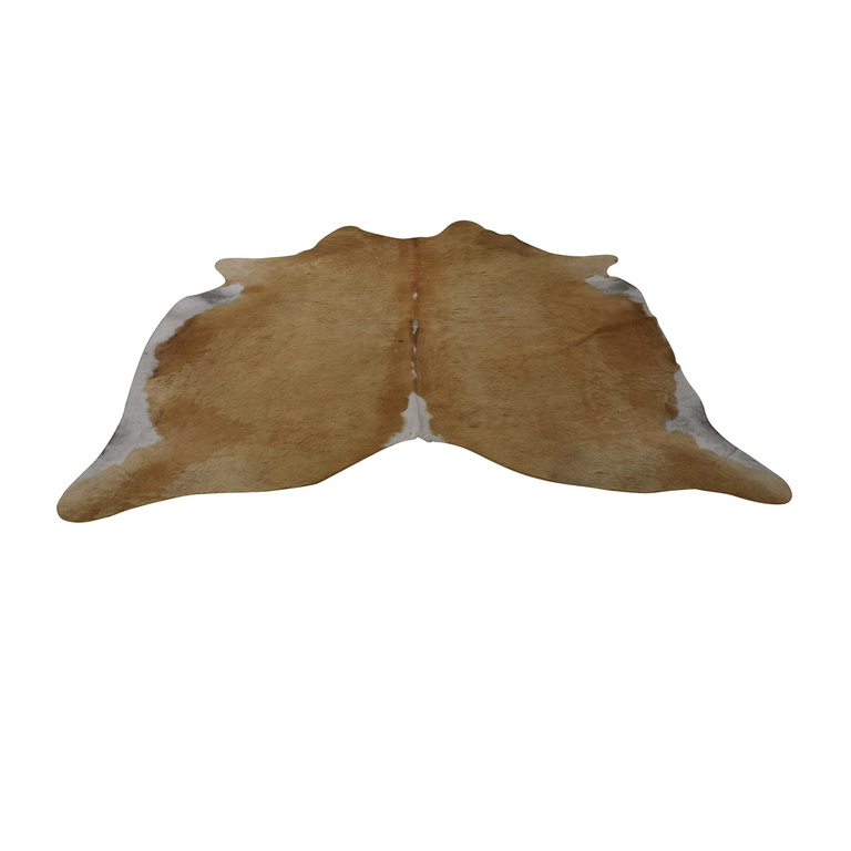 Natural Cowhide Beige and White Rug on sale