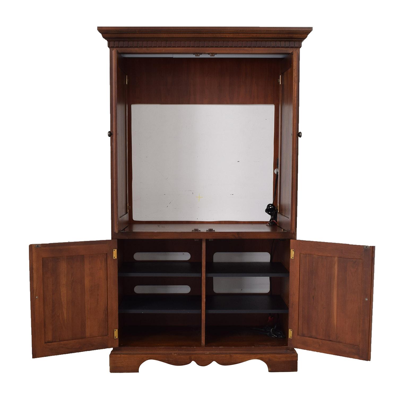 shop Hooker Wood TV Media Armoire Hooker Storage