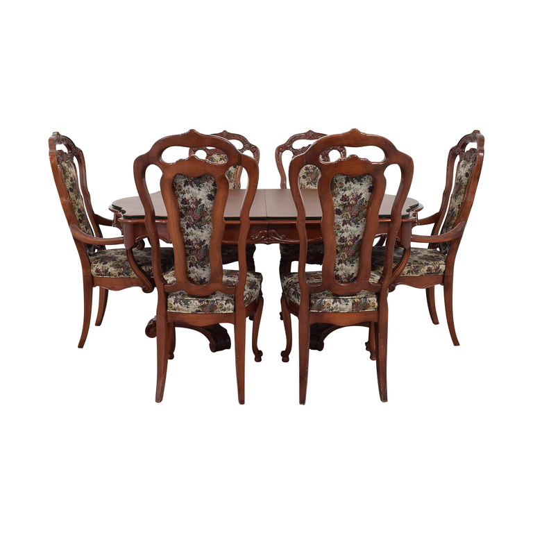 buy  Extendable Table Set with Fabric Chairs online