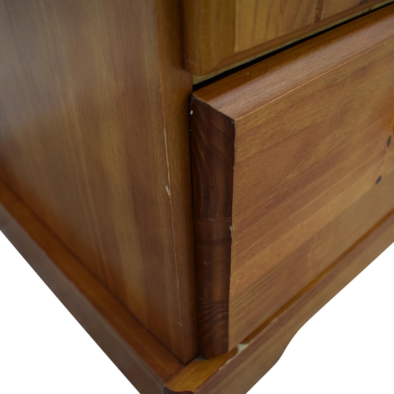 Single Drawer Wardrobe Armoire Light Brown