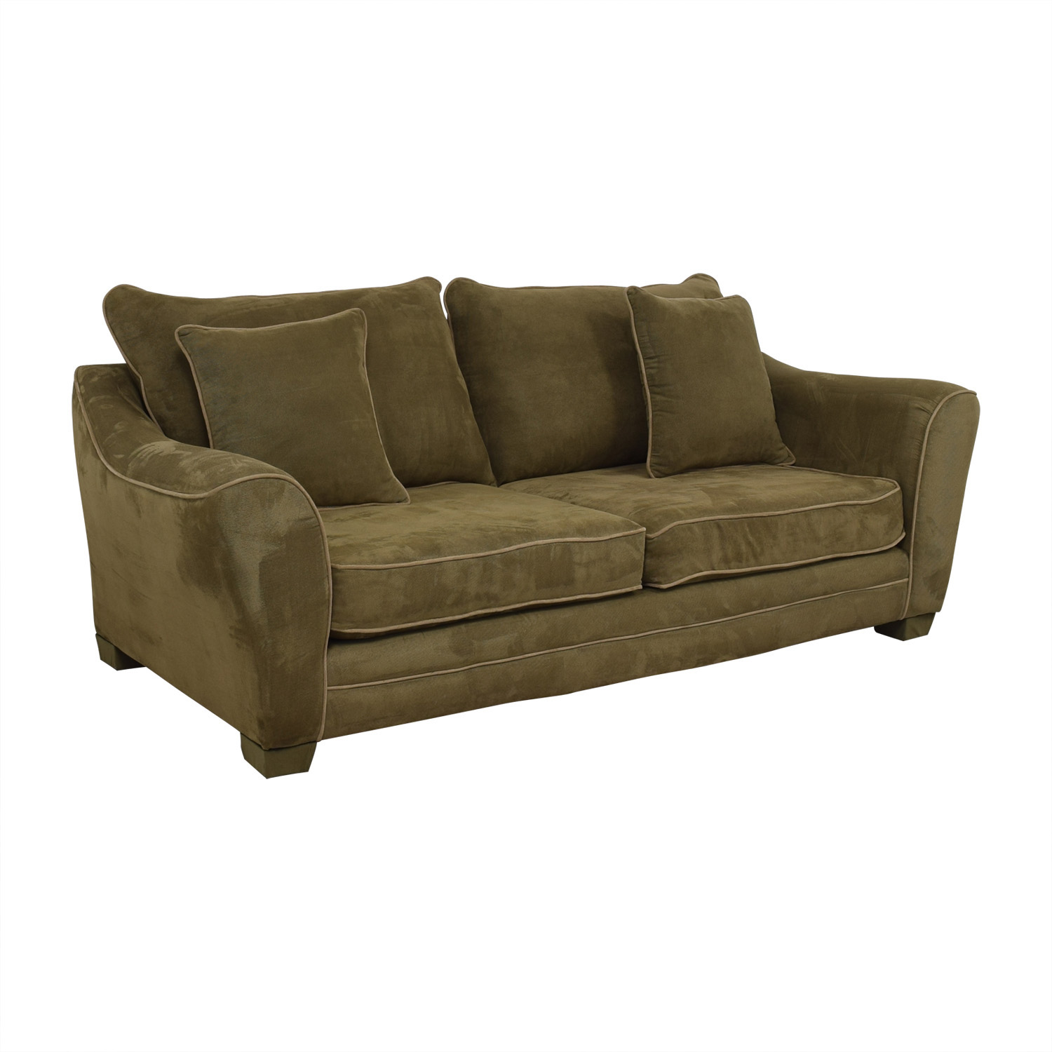 90 Off Largo Largo Olive Green Sofa Sofas