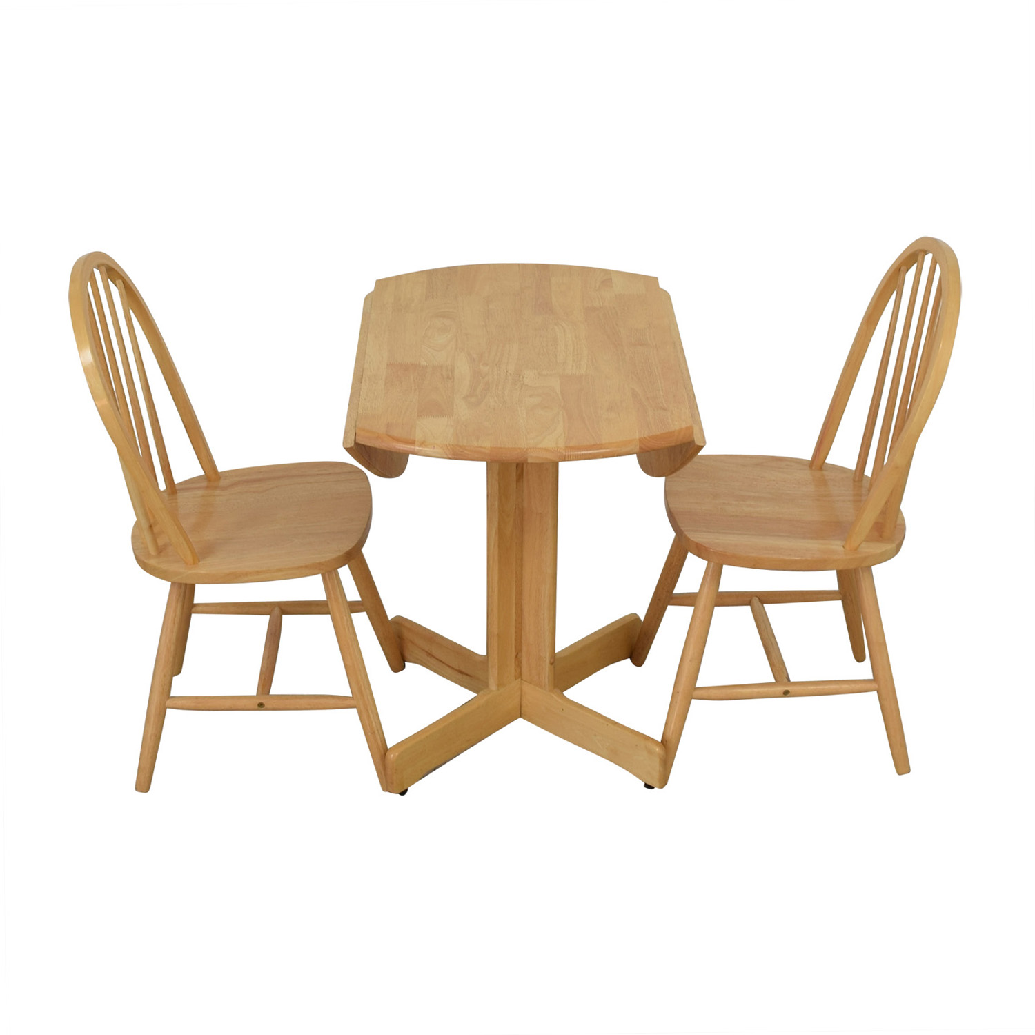 Coaster Coaster Round Natural Dining Set second hand