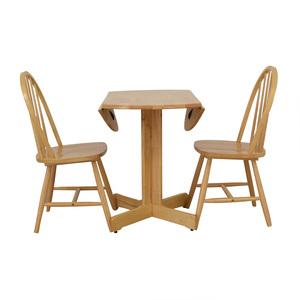 buy Coaster Fine Furniture Coaster Round Natural Folding Leaves Dining Set online