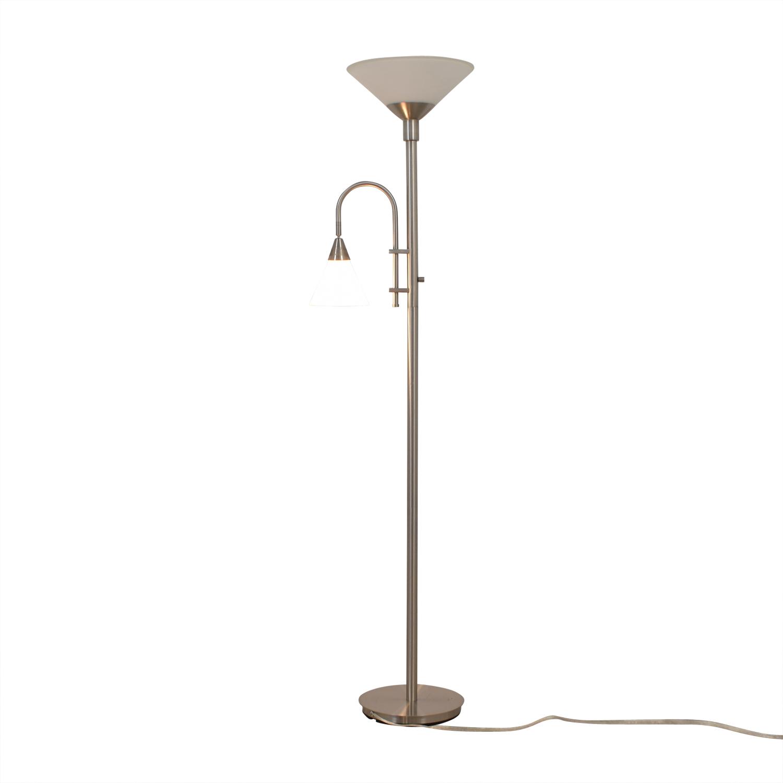 shop Double Bulb Chrome Floor Lamp  Lamps