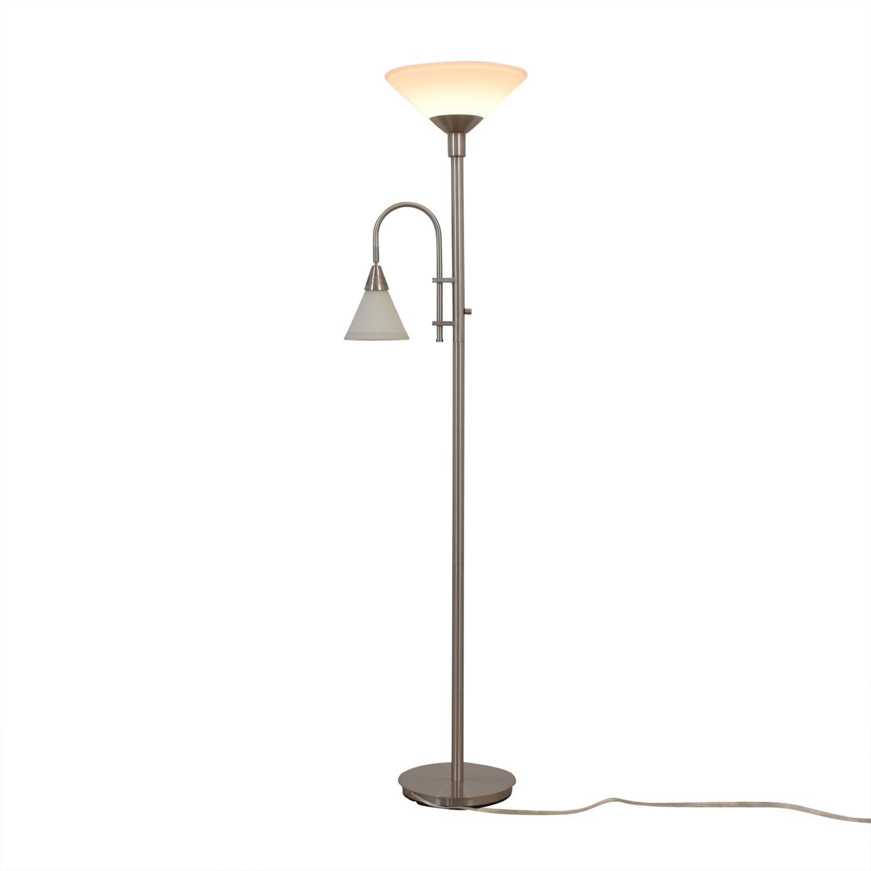 buy  Double Bulb Chrome Floor Lamp online
