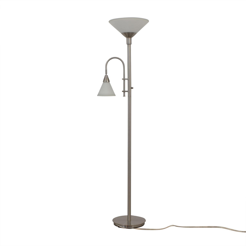 Double Bulb Chrome Floor Lamp discount