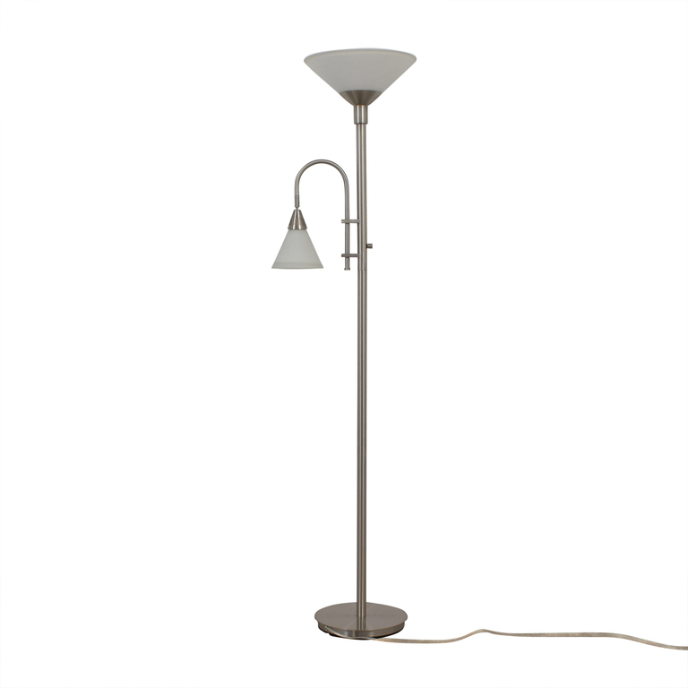 Double Bulb Chrome Floor Lamp for sale