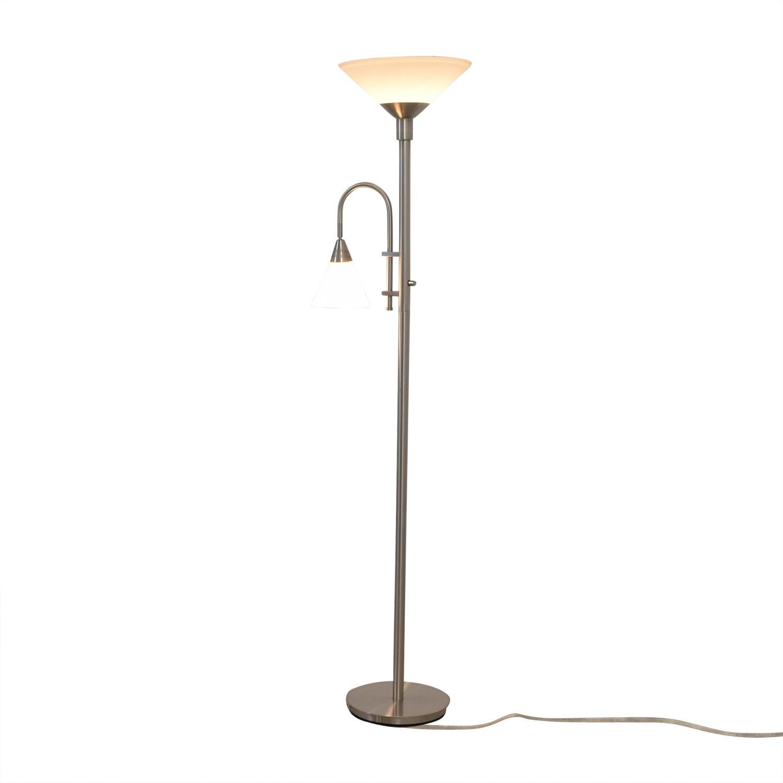 shop Double Bulb Chrome Floor Lamp