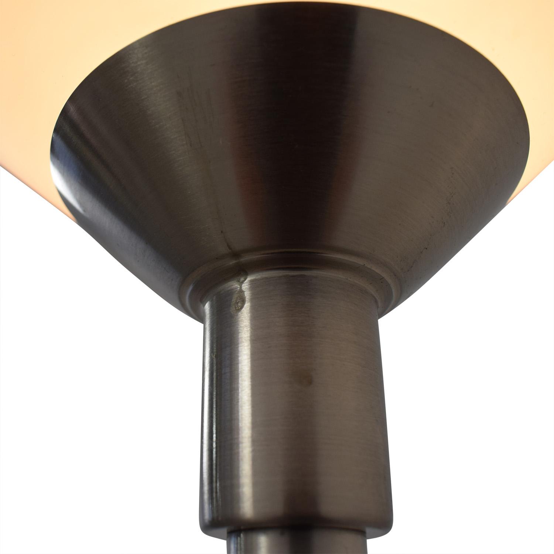 Double Bulb Chrome Floor Lamp Lamps