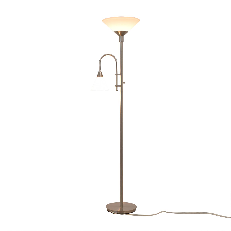Double Bulb Chrome Floor Lamp