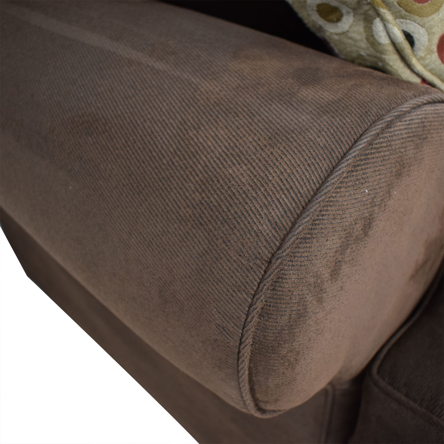 buy Raymour & Flanigan Brown L-Shaped Sectional With Pull-Out Convertible Bed Raymour & Flanigan
