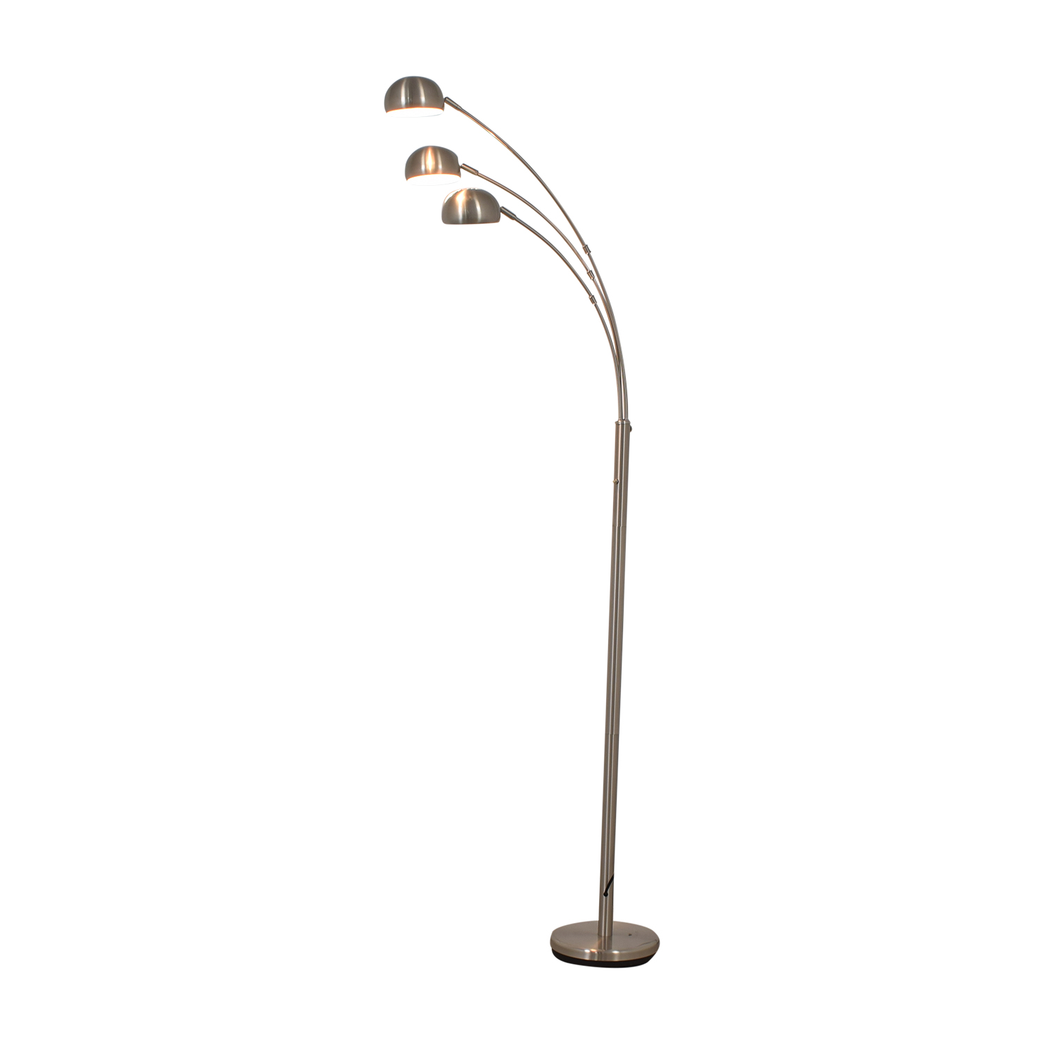 Chrome Arched  Floor Lamp silver