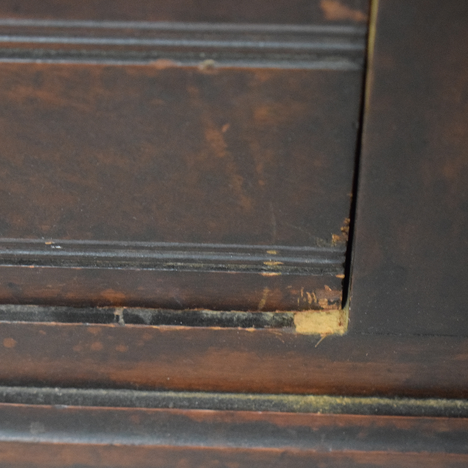 Antique Wood Two-Drawer Clothing Armoire with Key brown