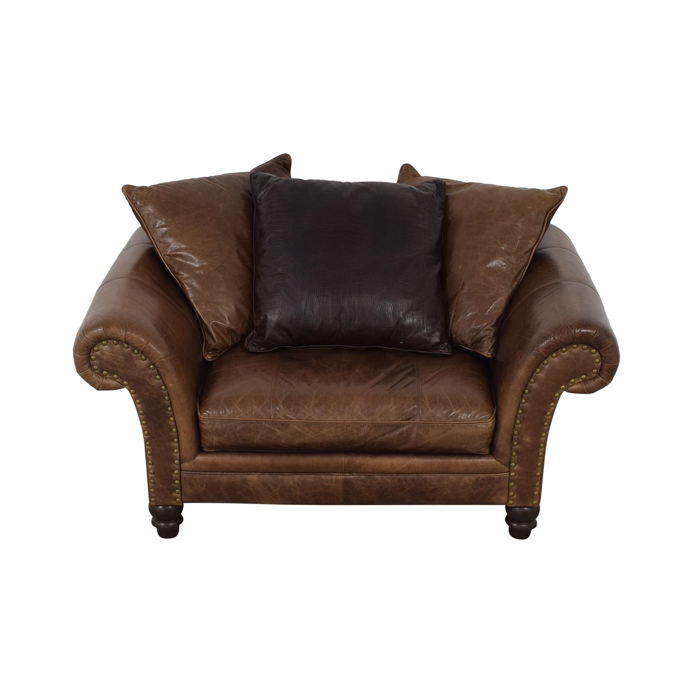 buy Bernhardt Brown Oversized Accent Chair Bernhardt