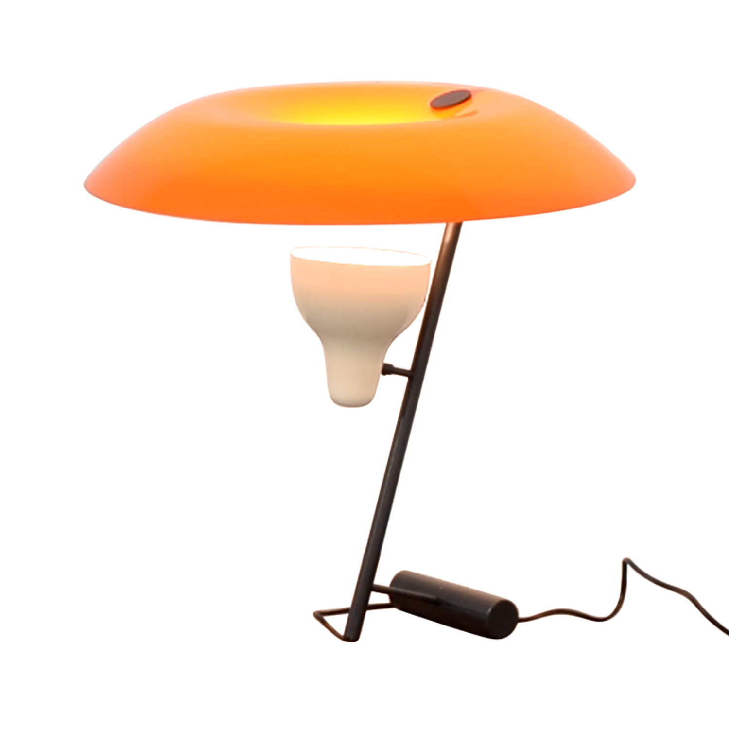 buy FLOS Gino Sarfatti Orange and Burnished Brass Table Lamp FLOS Lamps