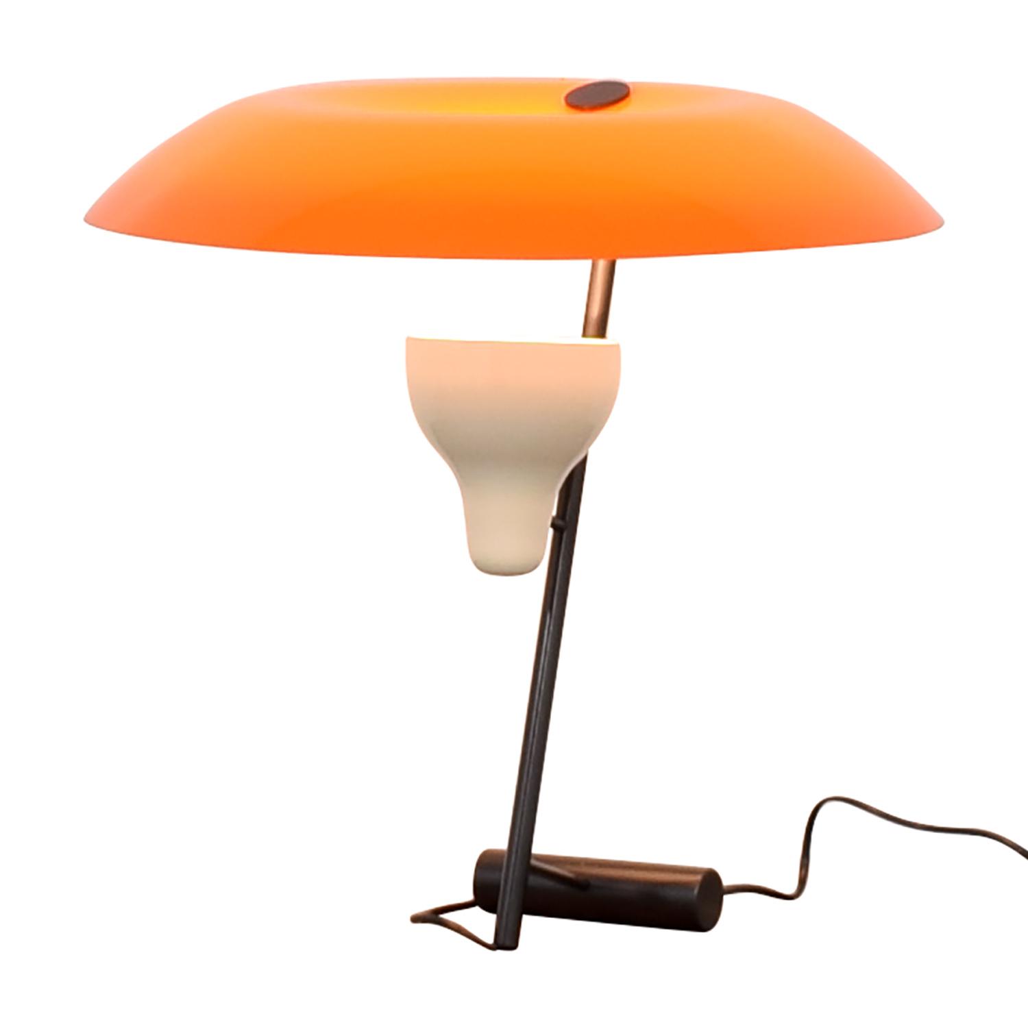 buy FLOS Gino Sarfatti Orange and Burnished Brass Table Lamp FLOS Decor
