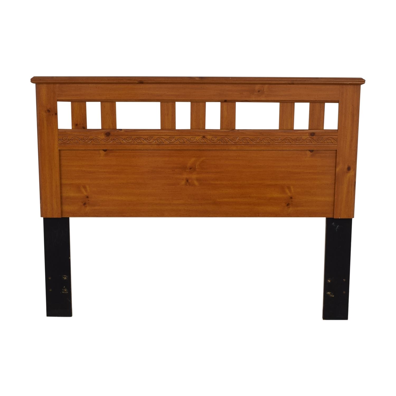 shop Standard Furniture Spice Pine Wood Full Headboard Standard Furniture Beds