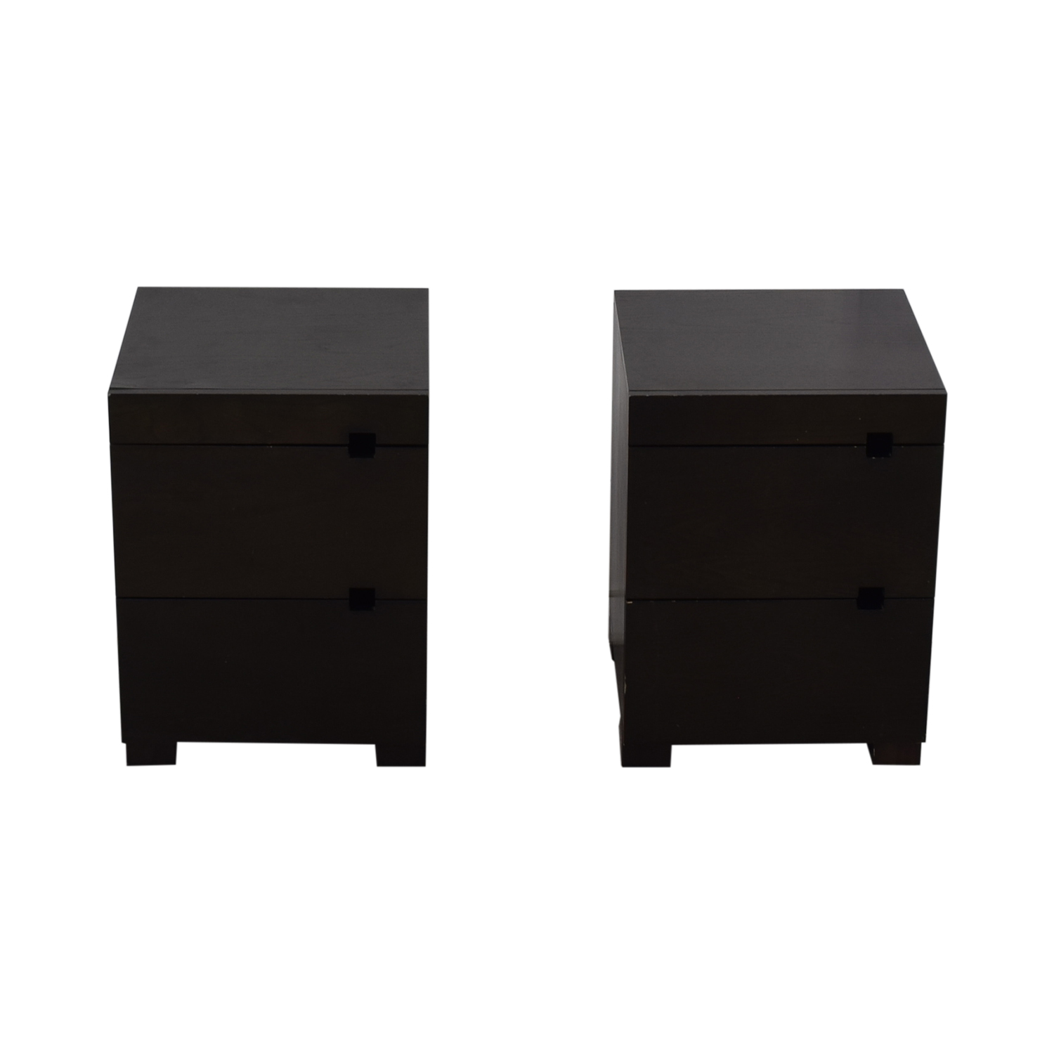 West Elm West Elm Square Cutout Chocolate-Stained Veneer Nightstands coupon