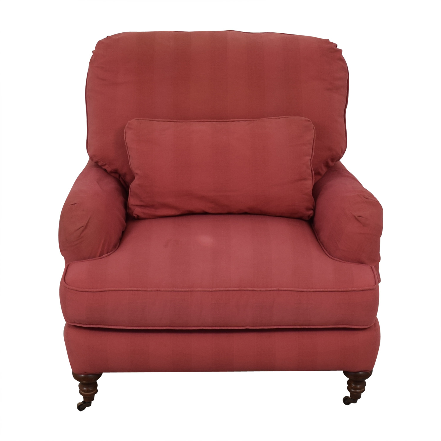 Shop Lee Industries Pink Roll Arm Accent Chair Lee Industries Accent Chairs