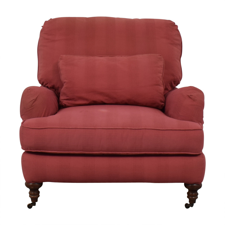 buy Lee Industries Lee Industries Pink Roll Arm Accent Chair online