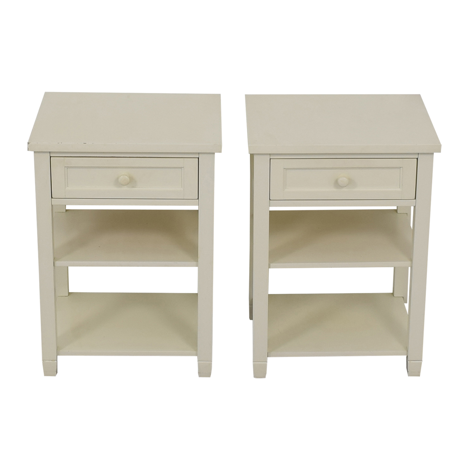 Pottery Barn Kids Pottery Barn Kids White Single Drawer End Tables price