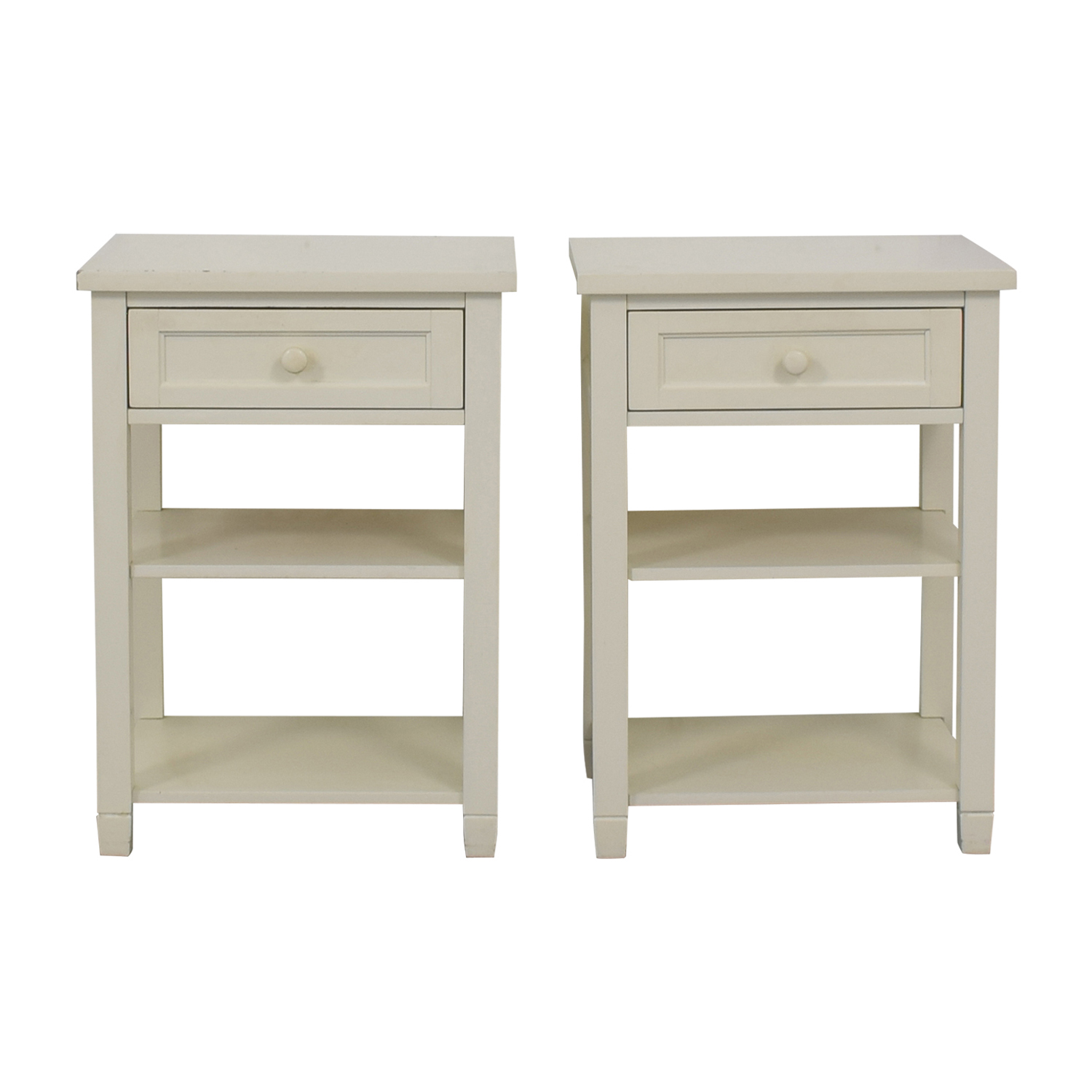 shop Pottery Barn Kids Pottery Barn Kids White Single Drawer End Tables online