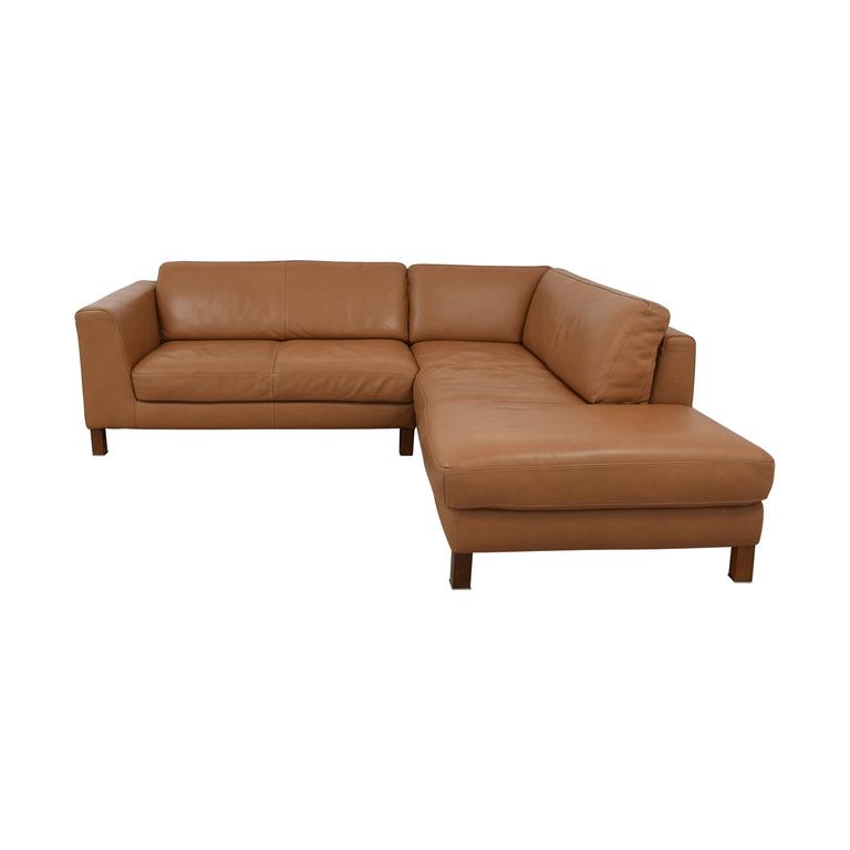 Bloomingdale's Bloomingdale's Camel Sectional Sofa dimensions